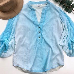 Diane Von furstenberg silk blouse with polka dots